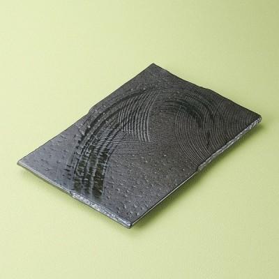 和食器 ゴーカイ黒長角皿 大 30.5×20×2cm プレート うつわ おさら おうち 陶器 カフェ おしゃれ 軽井沢 春日井