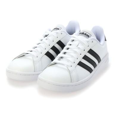 アディダス adidas レディース GRANDCOURT LEA U (ホワイト×ブラック)