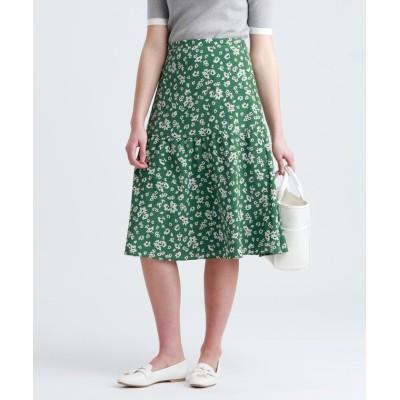 (MACKINTOSH PHILOSOPHY/マッキントッシュ フィロソフィー)フラワープリントスカート/レディース グリーン