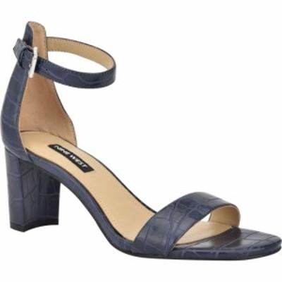 ナインウエスト NINE WEST レディース サンダル・ミュール アンクルストラップ シューズ・靴 Pruce Ankle Strap Sandal Darn Blue Croco