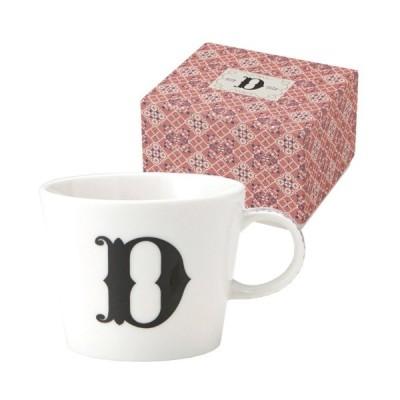 イニシャル ギフトパッケージ マグカップ アルファベット マグカップ D 東欧風ALPHABET MUG お洒落デザイン食器 陶器製