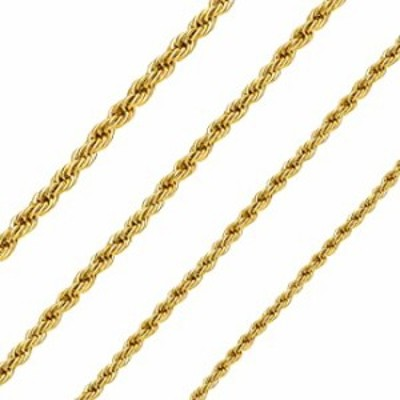 Giftall 2.5MM Rope Chain Necklace Stainless Steel Twist Rope Chain Necklace for Men Women 18 Inches 18K Real Gold Plated