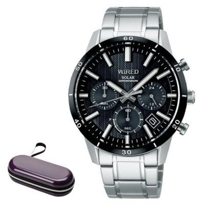 (時計ケース付)セイコー SEIKO 腕時計 AGAD414 ワイアード WIRED メンズ ソーラー ステンレスバンド 多針アナログ(国内正規品)