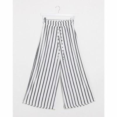 エイソス ASOS DESIGN レディース ボトムス・パンツ キュロット textured culotte in stripe print マルチカラー