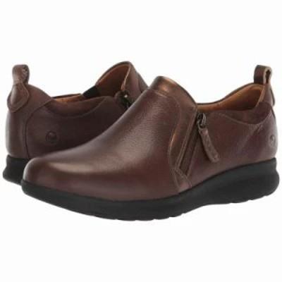 クラークス スニーカー Un Adorn Zip Dark Brown Leather/Suede Combination