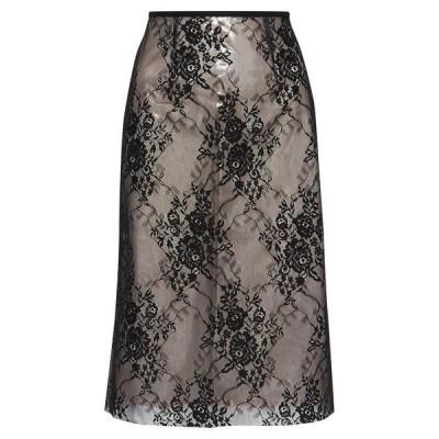 GOEN.J 七分丈スカート ファッション  レディースファッション  ボトムス  スカート  ロング、マキシ丈スカート ブラック