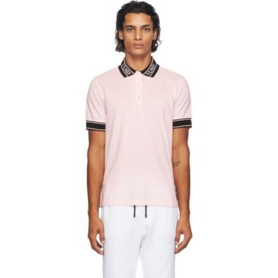 フェンディ Fendi メンズ ポロシャツ トップス Pink Logo Collar Polo Pink