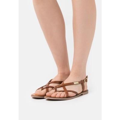レディース 靴 シューズ T-bar sandals - tan