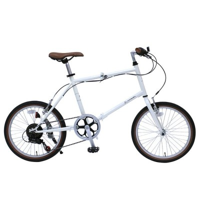 折りたたみ自転車 シトロエン 20インチミニベロ 6段変速 クレジットカード決済のみ 20インチ バニラホワイト