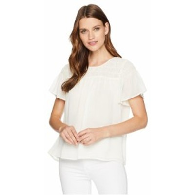 Vince Camuto ヴィンスカムート 服 一般 Ruffled Short Sleeve Smocked Blouse