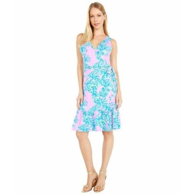 リリーピュリッツァー ワンピース トップス レディース Sleeveless Misha Wrap Dress Pelican Pink Beat The Heat Engineered