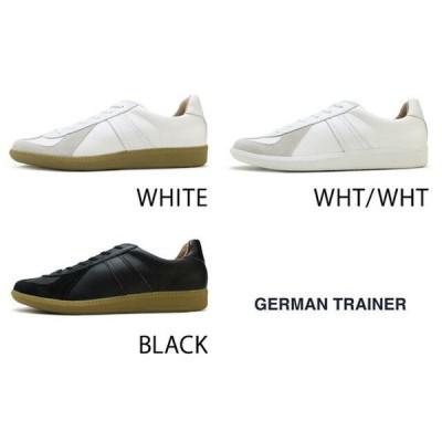 ジャーマントレーナー スニーカー 靴 シューズ 42000 レディース メンズ ホワイト ホワイト/ホワイト ブラック GERMAN TRAINER WHITE WHT/WHT BLACK