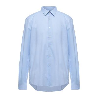 LIU •JO MAN シャツ スカイブルー 45 コットン 100% シャツ