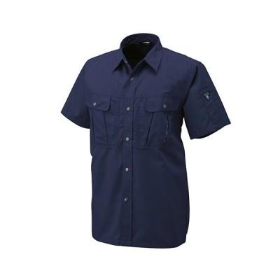 アルトコーポレーション 半袖シャツ トロピカル ネイビー Lサイズ JP−160−100−L 1着 (メーカー直送・代引不可)