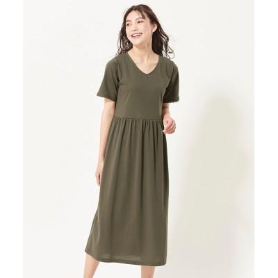 大きいサイズ  汗染み防止カットソーワンピース ,スマイルランド, ワンピース, plus size dress