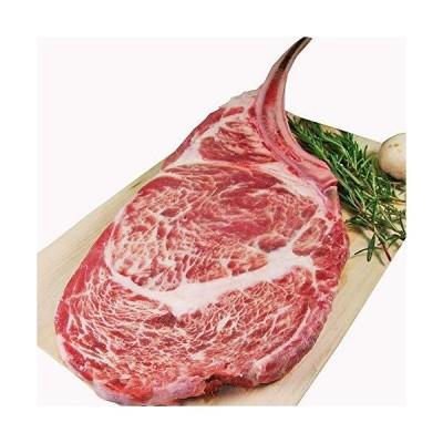 とろける やわらか 牛リブロース ステーキ肉 極厚2cm ビッグサイズ30cm (骨付き 牛肉 ステーキ バーベキュー)