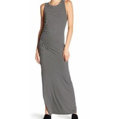 Bobeau ボビュ ファッション ドレス Bobeau NEW Black Striped Ruche Pintuck Womens Size Large L Maxi Dress