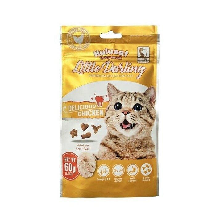 Hulucat《卡滋貓化毛潔牙餅》60g/包 六種口味可選擇 貓用零食點心