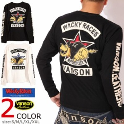 VANSON WACKY RACES コラボ ロンT(WRV-2017)【送料無料】バンソン チキチキマシン猛レース ケンケン 刺繍