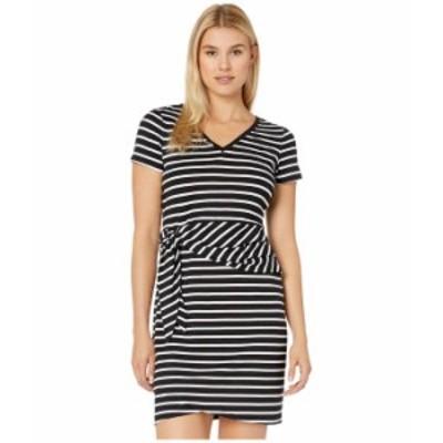 トッミーバハマ レディース ワンピース トップス Sonoran Stripe Twist Short Sleeve Dress Black