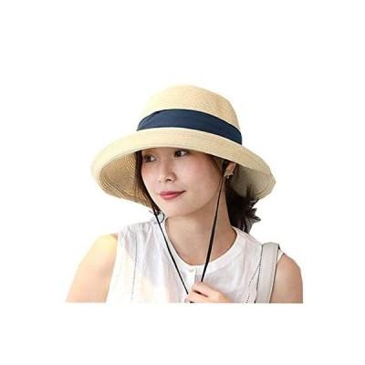 [ドリームハッツ]帽子 麦わら帽子 レディース uv 折りたたみ つば広 大きいサイズ ポニーテール 頭 大きい 春夏 ストローハット たためる 髪