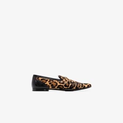 ドルチェ&ガッバーナ Dolce & Gabbana メンズ ローファー シューズ・靴 brown Erice leopard print calf hair loafers brown