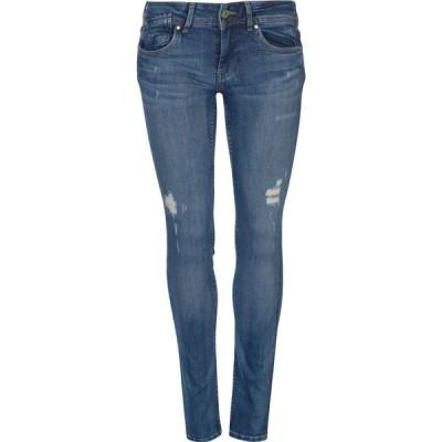 ペペジーンズ Pepe Jeans レディース ジーンズ・デニム ボトムス・パンツ Vera Mid Rise Jeans Destroyed Blue