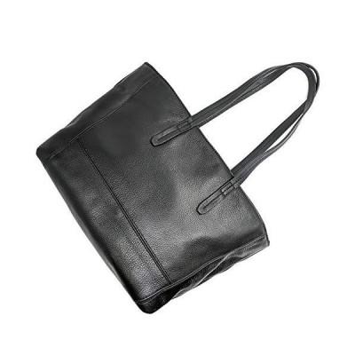 Genuine Leather Women's Anchor21 Havilah Full-Grain Leather Black Shopper T