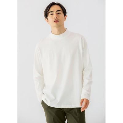 「i cotoni di ALBINI」 超長綿ハイネックTシャツ ワイン(WEB) S