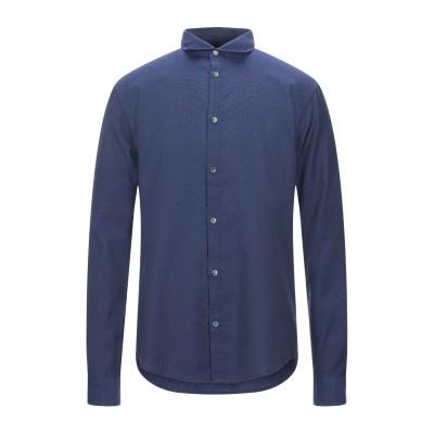 アルマーニ ジーンズ ARMANI JEANS シャツ ダークブルー L コットン 57% / ポリエステル 43% シャツ