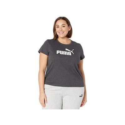 プーマ Plus Size Essential Logo Tee レディース シャツ トップス Dark Gray Heather