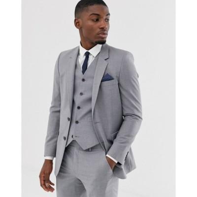 エイソス メンズ ジャケット&ブルゾン アウター ASOS DESIGN slim suit jacket in mid gray Grey