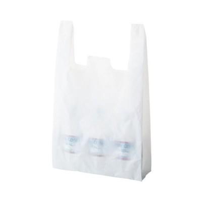 (まとめ) TANOSEE 乳白レジ袋 60号ヨコ350×タテ600×マチ幅150mm 1パック(100枚) 〔×5セット〕