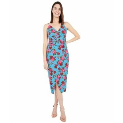 ベッツィジョンソン レディース ワンピース トップス Teal Floral Midi Dress Island Blue Floral