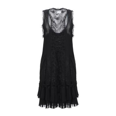 PF PAOLA FRANI ミニワンピース&ドレス ブラック 44 ナイロン 100% / コットン / ポリウレタン ミニワンピース&ドレス