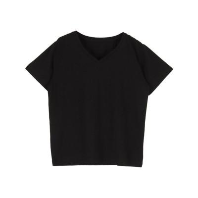 ティティベイト titivate ベーシックVネックTシャツ (ブラック)