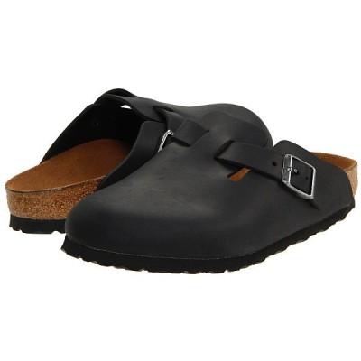 ビルケンシュトック サンダル レディース Boston - Oiled Leather (Unisex) Black Oiled Leather