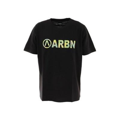エアボーン(ARBN) プリントTシャツ SSAIRB-O001BLK/YEL (メンズ)