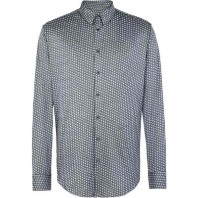 アルマーニ GIORGIO ARMANI メンズ シャツ トップス patterned shirt Steel grey