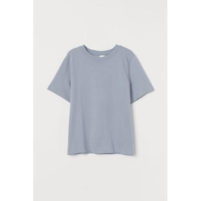 H&M - コットンTシャツ - グレー
