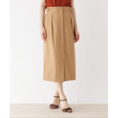 OPAQUE.CLIP / Reflax Linonツイル ボタンデザインナロースカート【WEB限定サイズ】 WOMEN スカート > スカート