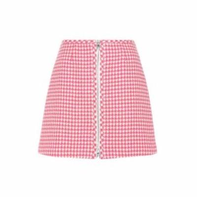 プラダ Prada レディース ミニスカート スカート Virgin wool miniskirt Avorio/Fuxia