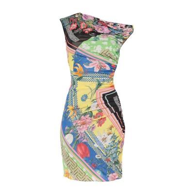 VERSACE ミニワンピース&ドレス グリーン 42 レーヨン 100% ミニワンピース&ドレス