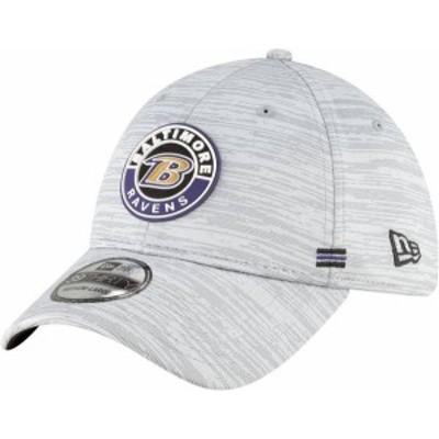 ニューエラ メンズ 帽子 アクセサリー New Era Men's Baltimore Ravens Sideline Road 39Thirty Stretch Fit Hat