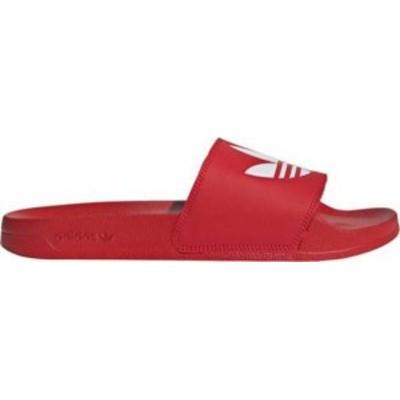 アディダス メンズ サンダル シューズ adidas Men's Adilette Lite Slides Scarlet/White