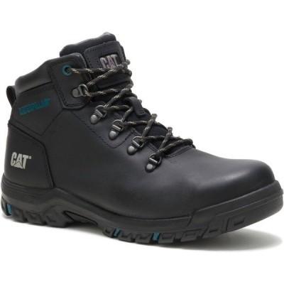 キャットフットウェア ブーツ&レインブーツ シューズ レディース Cat Footwear Women's Mae Steel Toe Lace Up Work Boots Black