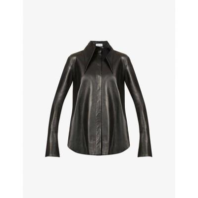 シックスティーン アーリントン 16 ARLINGTON レディース ブラウス・シャツ トップス Seymour oversized leather shirt BLACK