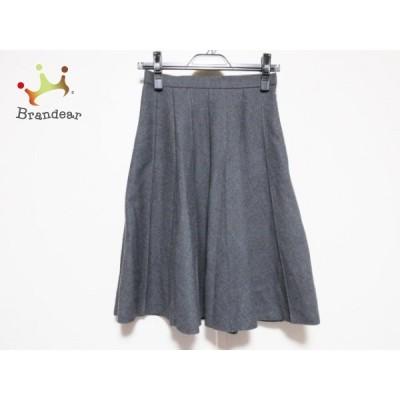 エムズグレイシー M'S GRACY スカート サイズ9 M レディース ダークグレー プリーツ 新着 20200630