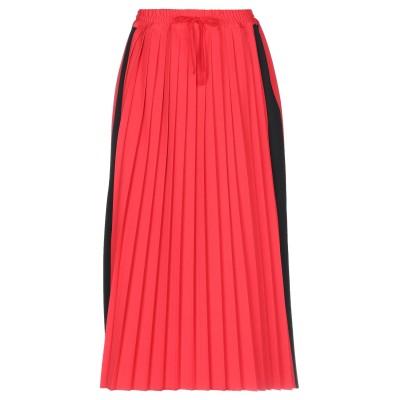 ハイケ HACHE 7分丈スカート レッド 40 ポリエステル 53% / バージンウール 43% / ポリウレタン 4% 7分丈スカート