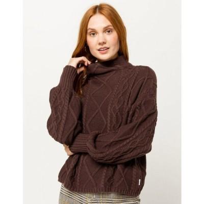 ルーカ RVCA レディース ニット・セーター トップス Attraction Knit Sweater BROWN